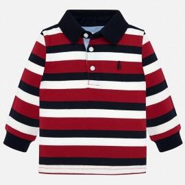 Tričko polokošile s dlouhými rukávy v pásech Mayoral 2105-37