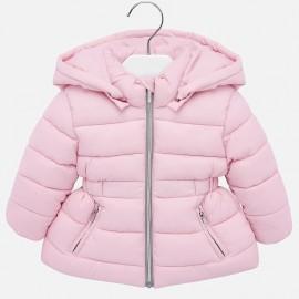 Mayoral 414-12 Růžová zimní prošívaná bunda s kapucí