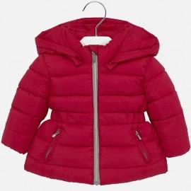 Bunda prošívaná zima s kapucí pro dívku Mayoral 414-13 Červená