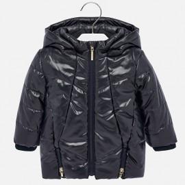Lesklá dlouhá zimní bunda pro dívky Mayoral 2435-88 granát