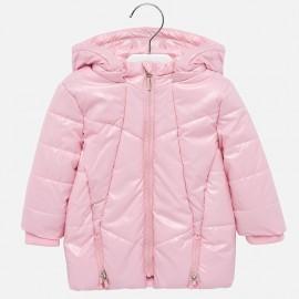 esklá dlouhá zimní bunda pro dívky Mayoral 2435-90 růžový