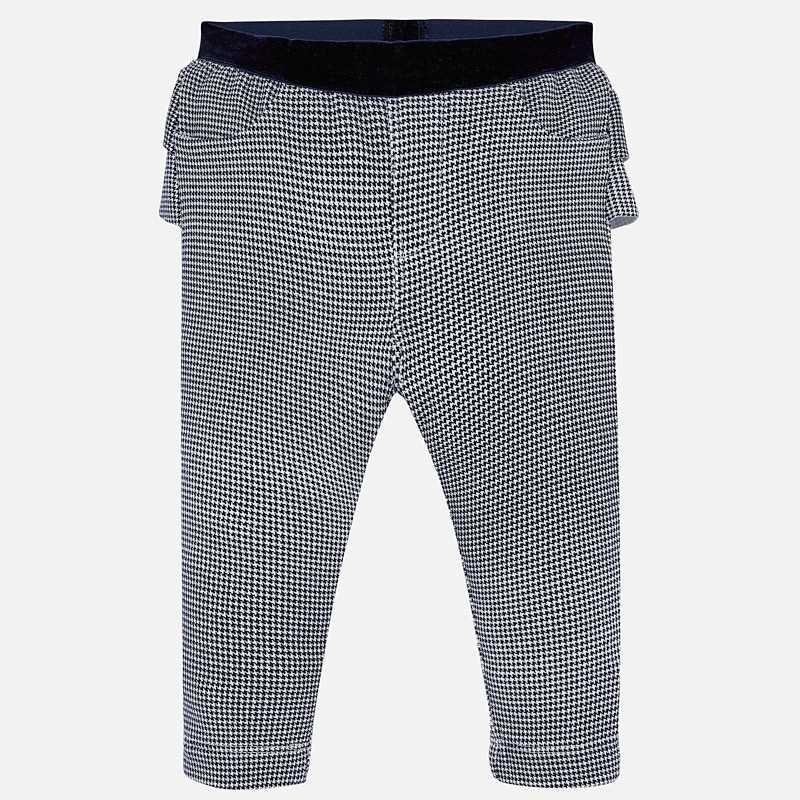 Dívčí dlouhé kalhotové kalhoty s volánkem Mayoral 2530-20 granát
