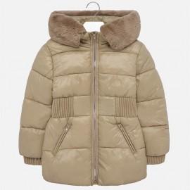 Zimní bunda s kapucí s leskem holčičí Mayoral 7425-71 zlato
