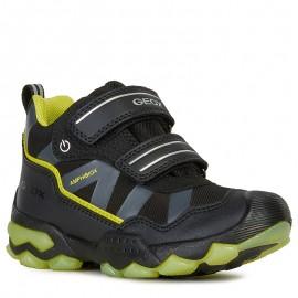 Zimní holínky pro chlapce GEOX J949WC-0FU54-C0802-S černá / zelená