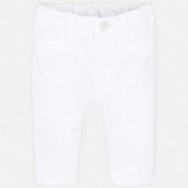 Mayoral 595-68 Kalhoty klasické chlapecké bílé
