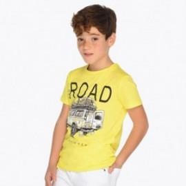 Mayoral 6036-60 Tričko k/y sportovní s potiskem chlapci žlutá barva