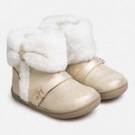 Boty zimní s kožešinou pro dívku Mayoral 42028-58 šampaňské