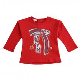 iDO Bluzka z długim rękawem dla dziewczynek K604-2253 czerwony