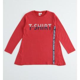 iDO Bluzka bawełniana z długim rękawem dla dziewczynki K920-2253 czerwony