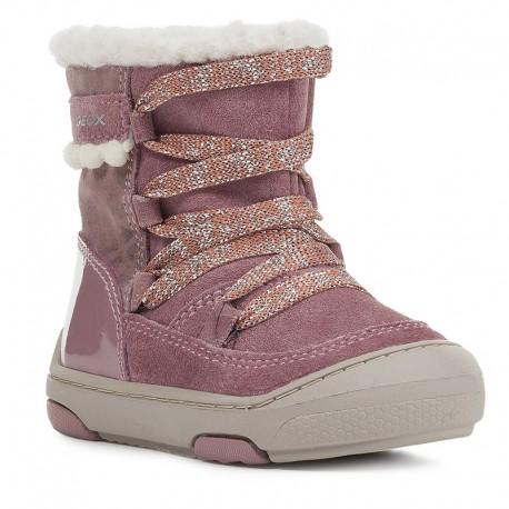 Dívčí zimní boty GEOX B943GC-022HI-C8006 růžové