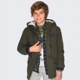 Parka zimní bunda s kapucí pro chlapce Mayoral 7445-24 zelená