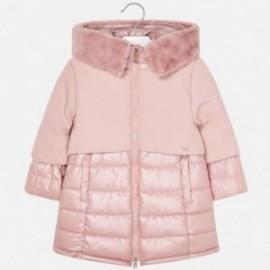 Zimní bunda s kapucí pro dívky Mayoral 4419-33 Quartz