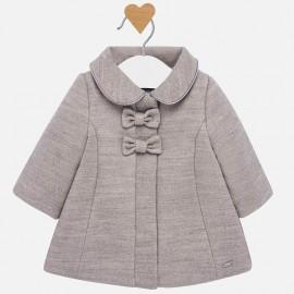Płaszcz elegancki na guziki dziewczęcy Mayoral 2409-54 Platyna