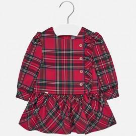 Kostkované šaty pro dívku Mayoral 2926-17 purpur