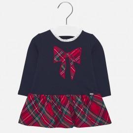 Sukienka dzianinowa codzienna dla dziewczynki Mayoral 2927-75 Granatowy
