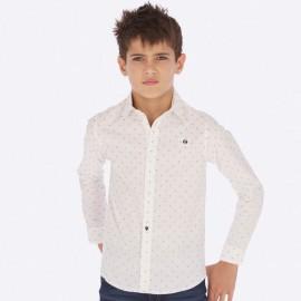 Koszula z długim rękawem żakardowa chłopięca Mayoral 7116-22