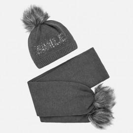 Nastavit klobouk a šátek s nápisem pro dívku Mayoral 10700-35 olovo