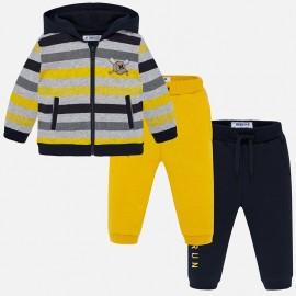 Track-suit mikina a dva páry kalhot pro chlapce Mayoral 2844-77 Kukuřice
