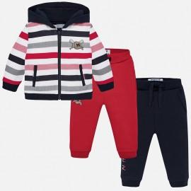 Track-suit mikina a dva páry kalhot pro chlapce Mayoral 2844-76 červená