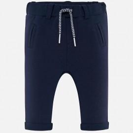 Spodnie długie z miękkiej bawełny dla chłopca Mayoral 2518-34 Granatowy