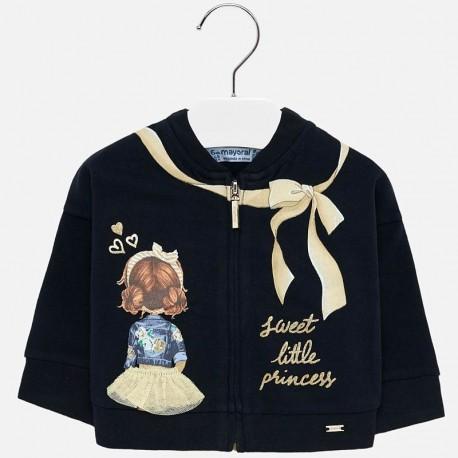 Bluza z z nadrukiemiem na stójce dla dziewczynki Mayoral 2438-79