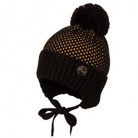 Jamiks JĘDRZEJ IV čepice pro chlapce se střapcem černá/med