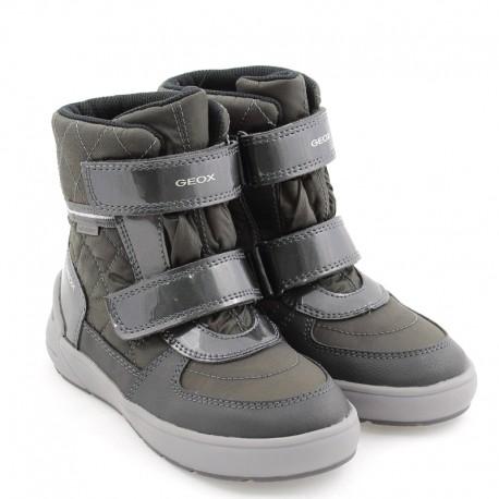 Dívčí sněhové boty GEOX J949SD-0FU50-C9003 šedá