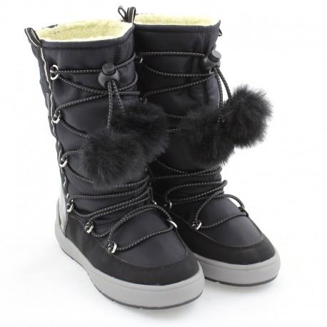 Dívčí sněhové boty GEOX J949SB-0FU50-C9999 černé