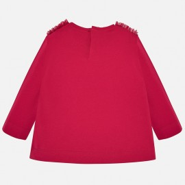 Bluzka z długim rękawem dla dziewczynki Mayoral 2013-94 Szkarłat