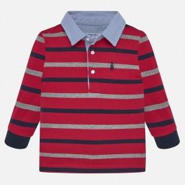 Tričko pólo s dlouhými rukávy v pásech chlapec Mayoral 2108-59