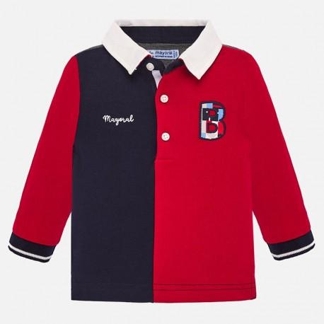 Koszulka polo z długim rękawem chłopięca Mayoral 2104-21