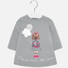 Saty bavlna s potiskem holčičí Mayoral 2920-18