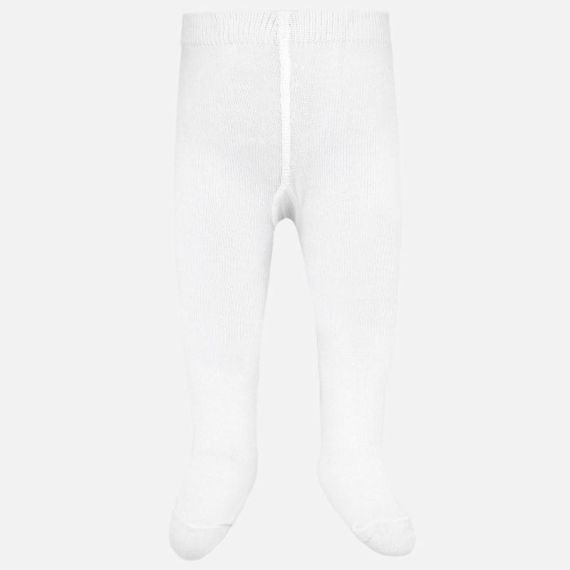 Rajstopy ciepłe bawełniane dla dziewczynki Mayoral 10628-39 Biały