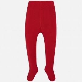 Punčocháče teplé hladké pro dívku Mayoral 10669-39 červená