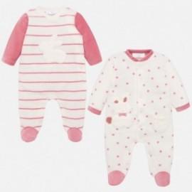 Sada 2 velur pyžam pro dívku Mayoral 2716-38 růžová