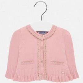 Pletený svetr s volánkami pro dívku Mayoral 2315-36 růžový