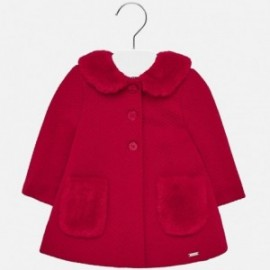 Elegantní kabát s límečkem pro dívku Mayoral 2426-92 purpur