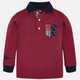 Polo tričko chlapec s dlouhými rukávy Mayoral 4112-94 Červená řepa