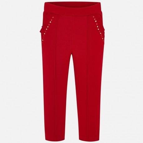 Dlouhé kalhoty pro dívky Mayoral 4501-37 červená