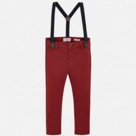 Elegantní kalhoty s podvazky kluci Mayoral 4522-27 vínová