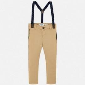 Elegantní kalhoty s podvazky kluci Mayoral 4522-25 béžová