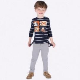 Elegantní kalhoty s podvazky chlapci Mayoral 4522-26 šedá