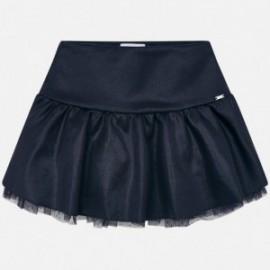 Lesklá semišová sukně pro dívky Mayoral 4904-56 granát