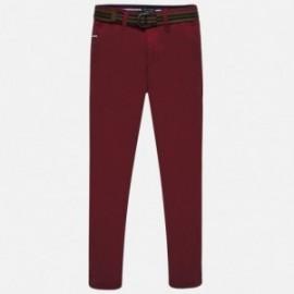 Elegantní kalhoty s pruhem kluci Mayoral 7513-24 burgundské
