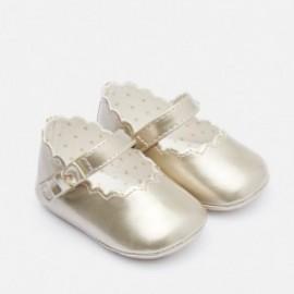 Lesklé balerínky na opasku pro dívku Mayoral 9217-24 Gold