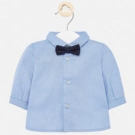 Elegantní košile s motýlkem pro chlapce Mayoral 1142-33 modrý
