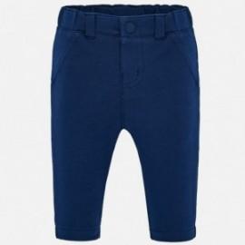 Dlouhé pletené kalhoty pro chlapce Mayoral 1541-16 granát