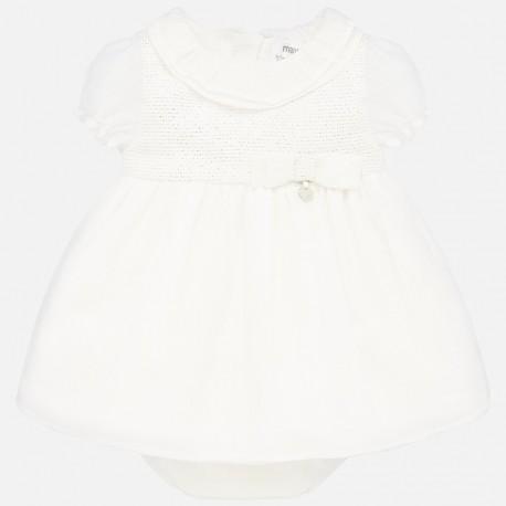 Elegantní šaty pro dívky Mayoral 1870-72 Cream