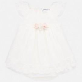 Elegantní šaty pro dívky Mayoral 1876-72 smetanový