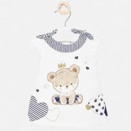 Bavlněné šaty Mayoral 1886-84 pro dívky granát
